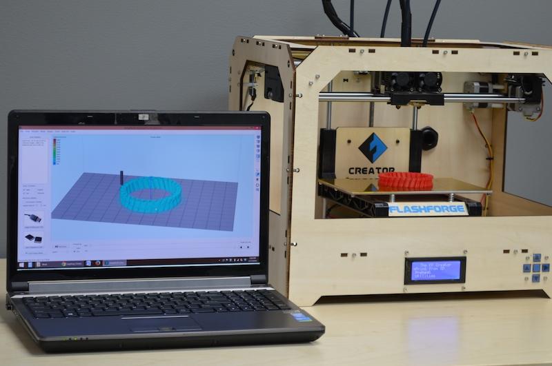 راه اندازی و نصب پرینتر سه بعدی Flashforge
