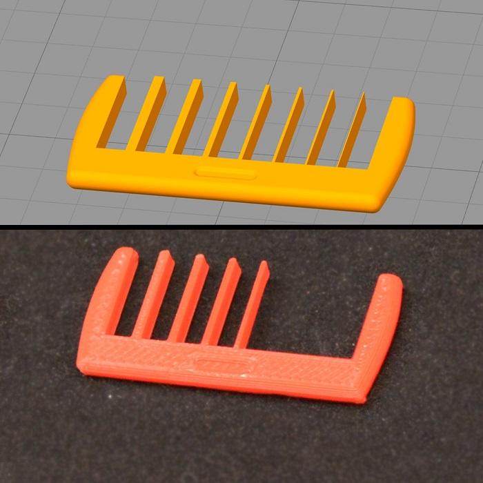 پرینت نشدن قسمت های بسیار کوچک در قطعه سه بعدی