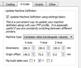 بروز رسانی ابعادMakerbot Replicator 2