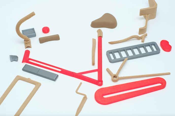 جزئیات پرینت سه بعدی دوچرخه