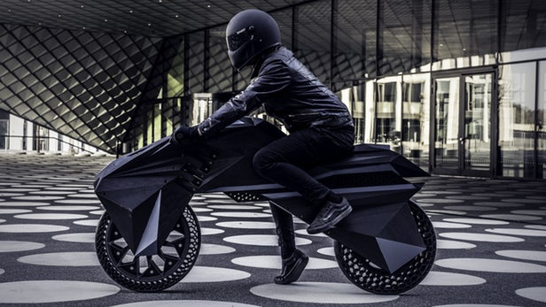 BigRep نمونه اولیه موتور سیکلت الکتریکی را چاپ می کند
