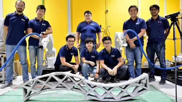 ربات ها در ساخت بتن چاپ سه بعدی همکاری می کنند